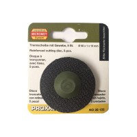 Disc din corindon, pentru debitare otel, Proxxon 28155, 50 x 10 x 1 mm, set 5 bucati