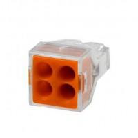 Clema montaj SMK 773-324, orange, 4 buc