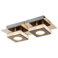 Plafoniera LED Cayman 49403-2, 2 x 5W, cupru