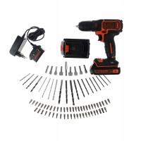 Masina de gaurit / insurubat Black&Decker BDCDC18, cu 2 acumulatori, 18 V, 1.5 Ah + accesorii