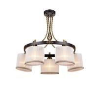Lustra Girona KL 6258, 5 x E14, maro antic + alb + bronz