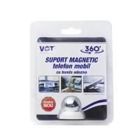 Suport auto pentru telefon VGT, universal, magnetic, cu banda adeziva