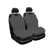 Huse auto pentru scaun, Carmax, gri, tip maieu, universale, set 2 bucati