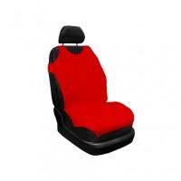 Huse auto pentru scaun, Carmax, rosii, tip maieu, universale, set 2 bucati
