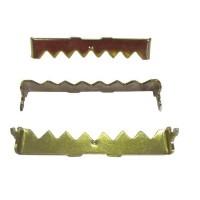 Agatator cu dinti, pentru tablou, otel, zincat auriu, 45 x 5 mm + cuie, set 10 bucati