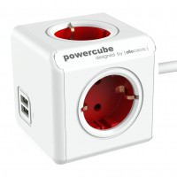 Prelungitor PowerCube 4 prize + 2 USB, 1.5 m