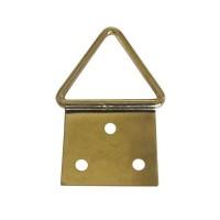 Agatatori pentru tablou, alama, zincat auriu, 24 x 12 mm, set 10 bucati