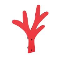 Cuier pentru mobila, din metal, Copac, rosu, cu 5 agatatori