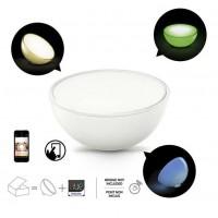 Lampa portabila LED RGB Hue Go 7146060PH, 6W, 300lm, lumina calda / rece / multicolora, alba