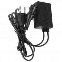 Controler pentru cablu luminos cu LED de maxim 10 metri, 8 jocuri de lumini, negru