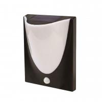 Aplica solara LED Hoff, 2.2 W, cu senzor de miscare, 24 x 19.6 x 10 cm