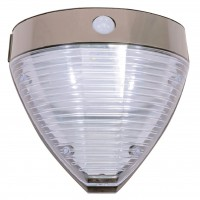 Aplica solara LED Hoff, 2.2W, cu senzor de miscare, dispersor transparent