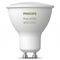Bec inteligent LED Philips Hue spot GU10 5.7W lumina calda / rece, Bluetooth, dimabil, Wi-Fi