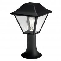 Stalp de iluminat ornamental Alpenglow 1649630PN, 1 x E27, H 30 cm, negru