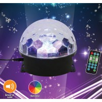 Glob disco LED Hoff Light and Music basic cu telecomanda