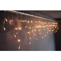 Instalatie turturi Craciun, Hoff Net, 108 LED-uri albe cu lumina calda + 12 LED-uri flash, 4.5 x 0.5 m, interior / exterior, cablu alb