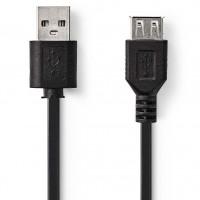 Cablu prelungire USB 2.0 CCGT60010BK30, Nedis, 3 m