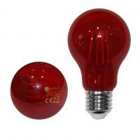 Bec LED COG color Adeleq Lumen 06-728/R clasic E27 6W lumina rosie