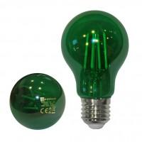 Bec LED COG color Adeleq Lumen 06-728/V clasic E27 6W lumina verde