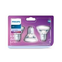 Bec LED Philips spot GU10 4.5W 440lm lumina neutra 4000 K - 3 buc
