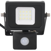 Proiector LED cu senzor de miscare Hoff 10W, lumina rece, IP65