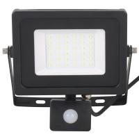Proiector LED cu senzor de miscare Hoff 30W, lumina rece, IP65
