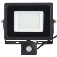 Proiector LED cu senzor de miscare Hoff 50W, lumina rece, IP65