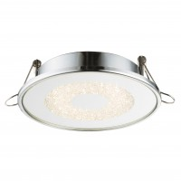 Spot LED incastrat Manda 12006, 9W, lumina neutra, crom, sticla si cristale K5
