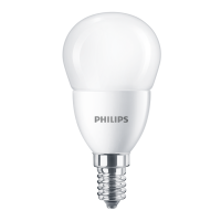 Bec LED Philips mini P48 E14 7W 806lm lumina calda 2700 K