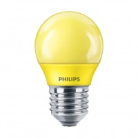 Bec LED color Philips mini P45 E27 3.1W lumina galbena