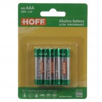 Baterie Hoff, AAA / LR03, alcalina, 4 buc