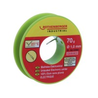 Aliaj pentru lipire circuite electronice, Rothenberger 1000002349, 1 mm, 70 g