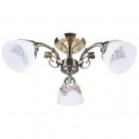 Lustra Prato LY-3225, 3 x E27, bronz + alb