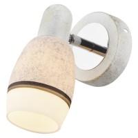 Aplica Marmo LY-1043, 1 x E14, alb marmorat