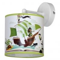 Aplica Pirat KL 6587, 1 x E27, multicolora cu dungi verzi