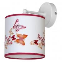 Aplica Spring KL 6593, 1 x E27, multicolora cu dungi roz