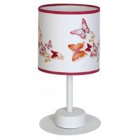 Veioza Spring KL 6594, 1 x E27, multicolora cu dungi roz