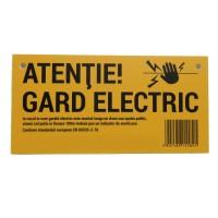 Placuta de avertizare pentru gard electric