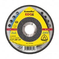 Disc debitare inox/otel, Klingspor Kronenflex Edge 2 in 1, 115 x 22.23 x 1.2 mm