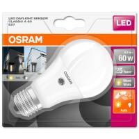 Bec LED Osram clasic mat A60 E27 8.5W 806lm lumina calda 2700 K, cu senzor lumina