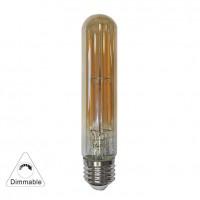 Bec LED decorativ Adeleq Lumen 13-27826009 tubular T125 E27 6W 600lm lumina calda 2200 K, dimabil, auriu