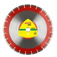 Disc diamantat  segmentat, pentru taiere beton, Klingspor DT 350 B Extra, 350 x 25.4 x 3 mm