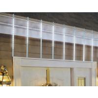 Instalatie turturi Craciun, 320 LED-uri albe cu lumina rece, 7 x 0.5 m, 8 tuburi, interior / exterior