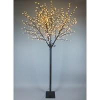 Copac decoratiune 600 LED-uri cu lumina calda constanta, cires, 250 cm, alimentare priza