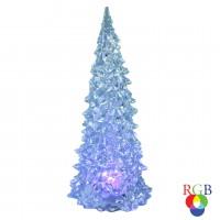 Decoratiune brad LED RGB Hoff, 0.3W, 23 cm, alimentare baterii