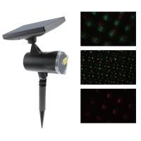 Proiector laser Craciun, exterior / interior, Hoff, rosu + verde, cu panou solar