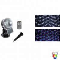 Proiector LED Craciun, exterior / interior, Hoff, ninsoare + RGB, cu telecomanda
