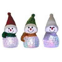 Om zapada decoratiune 4 LED-uri multicolore, alimentare baterii