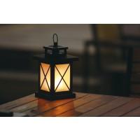Felinar decoratiune 32 LED-uri cu lumina calda, 0.1W, efect flacara, alimentare baterii