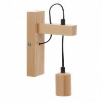 Aplica Leon 34836, 1 x E27, lemn, natural